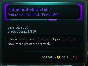 Tarnished Eldan Gift : WildStar items at Jabbithole, the database ...