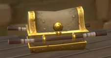 Gold chest (wood handles)